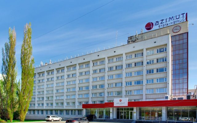 Азимут Отель Уфа вид на фасад