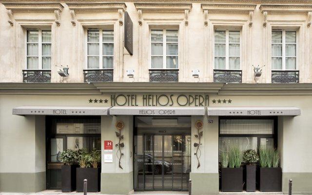 Отель Helios Opera Париж вид на фасад