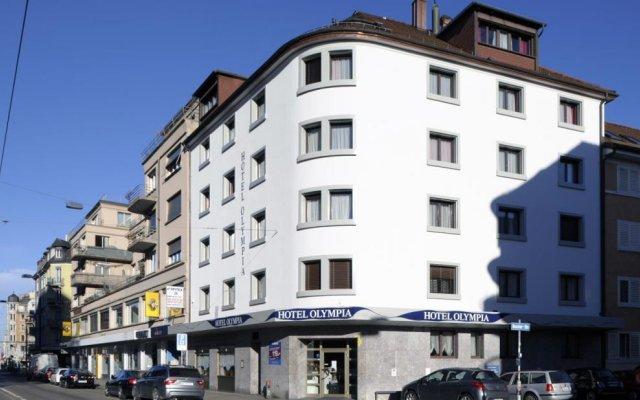 Olympia Hotel Zurich вид на фасад