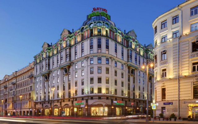 Гостиница Марриотт Москва Гранд вид на фасад