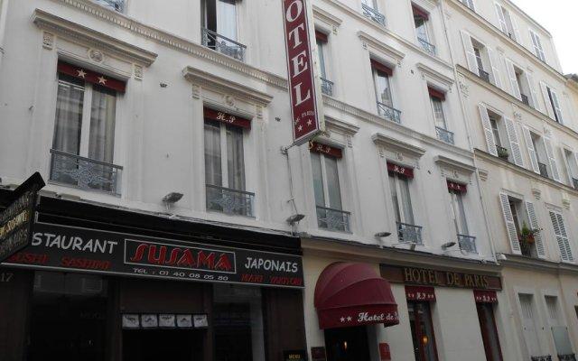 Отель De Paris Montmartre Париж вид на фасад