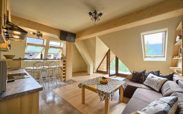 Отель VISITzakopane Eco Apartments Польша, Косцелиско - отзывы, цены и фото номеров - забронировать отель VISITzakopane Eco Apartments онлайн комната для гостей