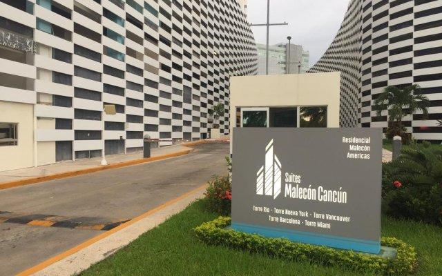 Отель Suites Malecon Cancun вид на фасад