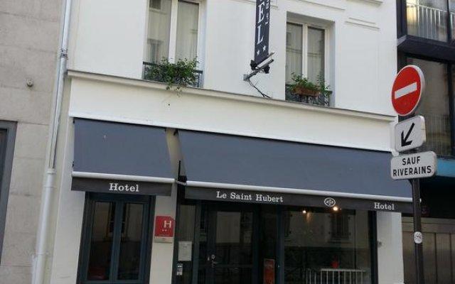 Отель Hôtel Saint-Hubert вид на фасад
