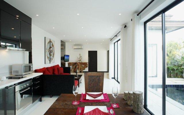 Отель Byg Private Pool Villa @ Layan Beach пляж Банг-Тао комната для гостей