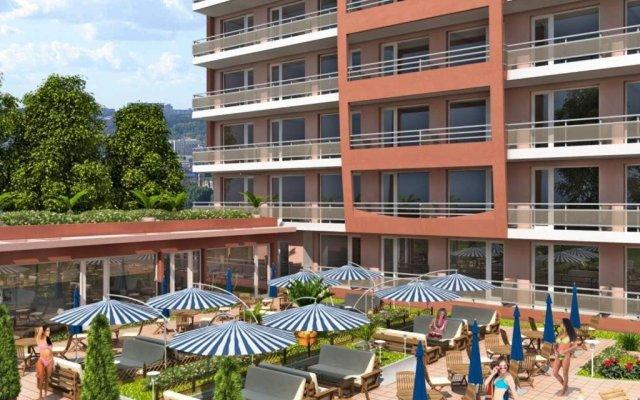 Отель Bulgarienhus Sunset Beach 4 Apartments Болгария, Солнечный берег - отзывы, цены и фото номеров - забронировать отель Bulgarienhus Sunset Beach 4 Apartments онлайн вид на фасад