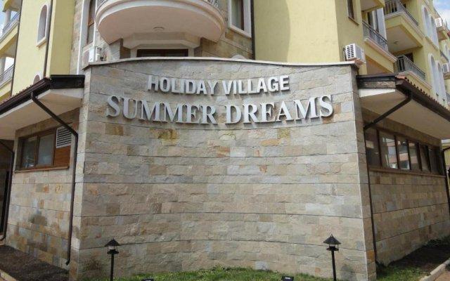 Отель Summer Dreams Sunny Studios Солнечный берег вид на фасад