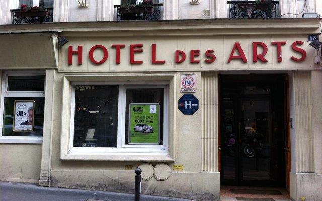 Hotel Des Arts Montmartre вид на фасад