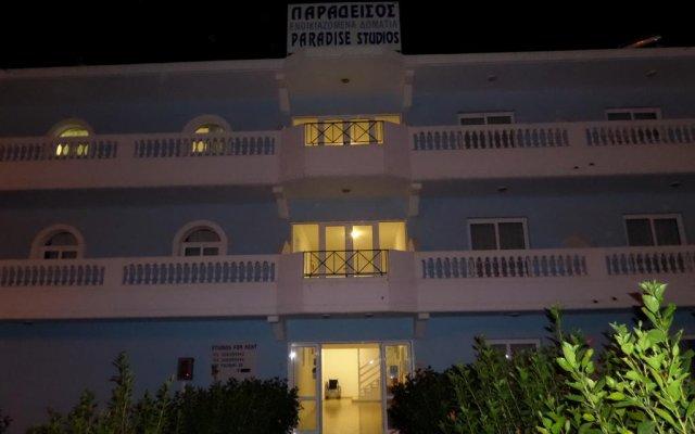 Отель Paradise Studios вид на фасад