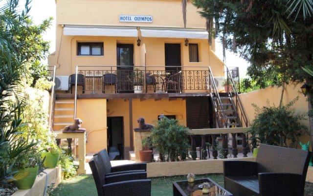 Отель Olympos Pension Родос вид на фасад