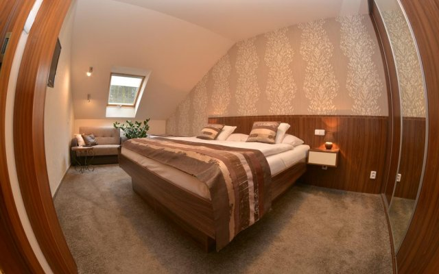 Отель Apartmán Bílá Hora Roudná Пльзень комната для гостей
