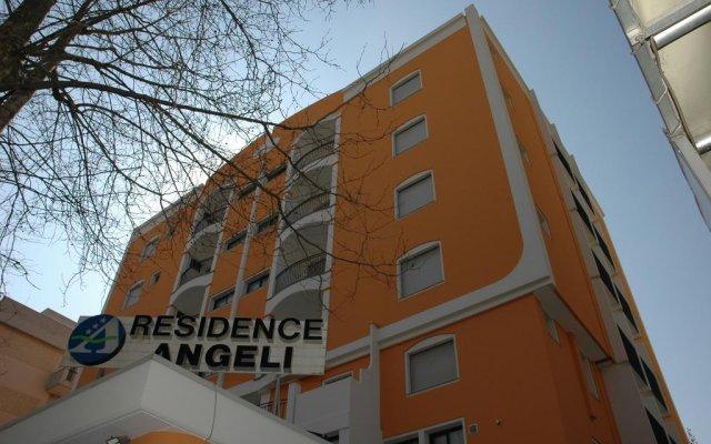 Residence Hotel Angeli Римини вид на фасад