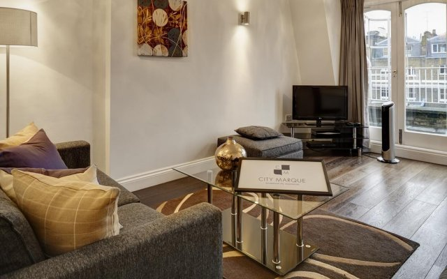 Апартаменты City Marque Knightsbridge Serviced Apartments Лондон комната для гостей