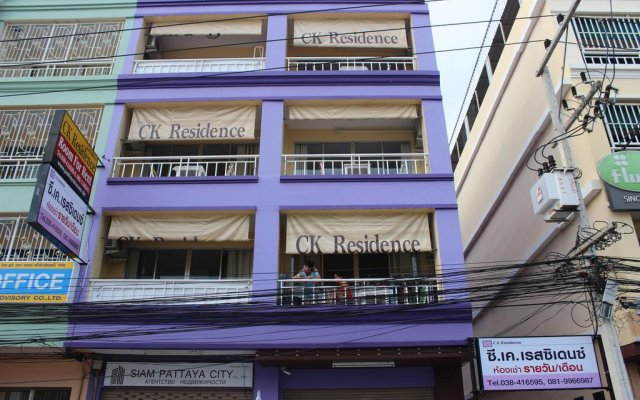 Отель Ck Residence Паттайя вид на фасад