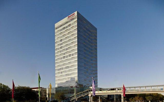 Гостиница Marriott Executive Apartments Atyrau Казахстан, Атырау - отзывы, цены и фото номеров - забронировать гостиницу Marriott Executive Apartments Atyrau онлайн вид на фасад