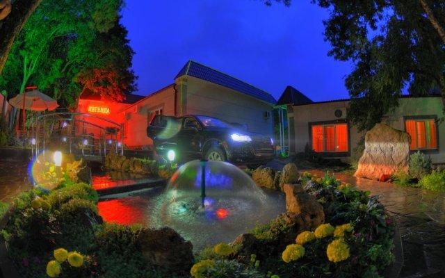 Гостиница Затерянный рай у Машука вид на фасад