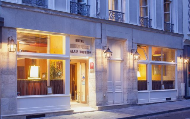 Отель Hôtel du Palais Bourbon Франция, Париж - отзывы, цены и фото номеров - забронировать отель Hôtel du Palais Bourbon онлайн вид на фасад
