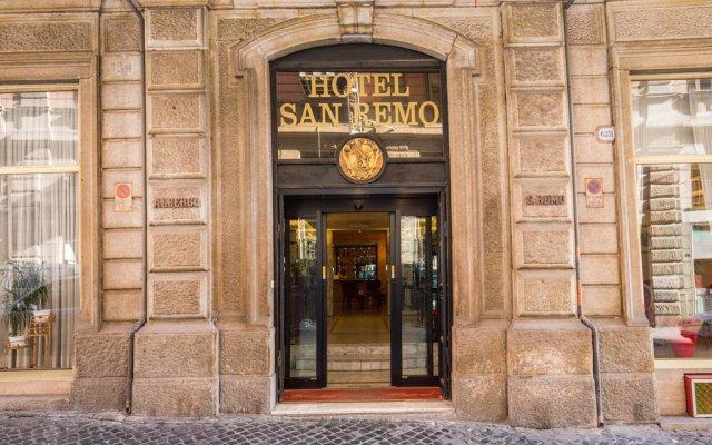 Отель San Remo Рим вид на фасад