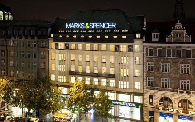 Hotel Apartments Wenceslas Square вид на фасад