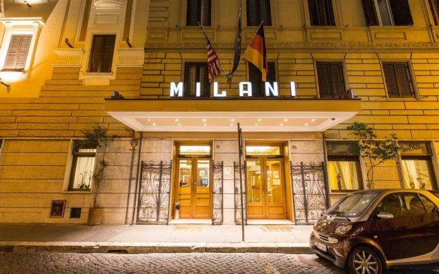 Отель MILANI Рим вид на фасад