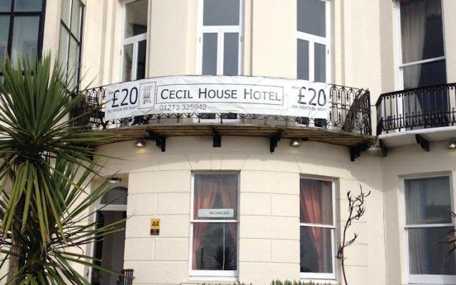 Cecil House Hotel Брайтон вид на фасад