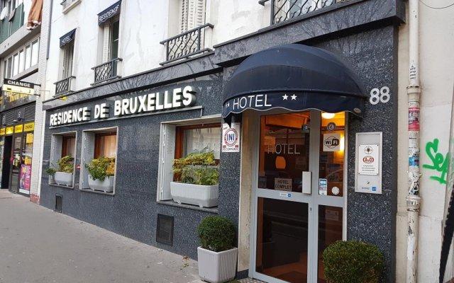 Отель Hôtel Résidence De Bruxelles Франция, Париж - 1 отзыв об отеле, цены и фото номеров - забронировать отель Hôtel Résidence De Bruxelles онлайн вид на фасад