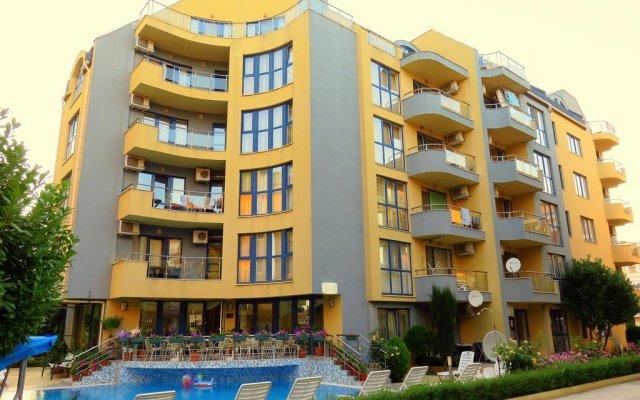 Отель Aparthotel Aquaria Болгария, Солнечный берег - отзывы, цены и фото номеров - забронировать отель Aparthotel Aquaria онлайн вид на фасад