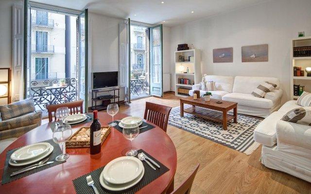 Апартаменты Habitat Apartments Bruc Барселона комната для гостей