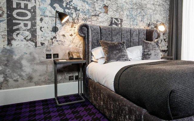 Отель Malmaison Glasgow Глазго комната для гостей
