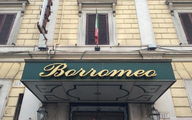 Отель BORROMEO Рим вид на фасад