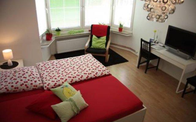 Апартаменты Apartment Bett Am Rhein Дюссельдорф комната для гостей
