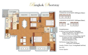 Bangkok Shortstay 2 to 3 BR Sukhumvit