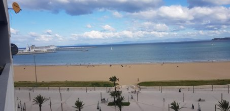 Apartment With 2 Bedrooms in Tanger, With Wonderful sea View, Shared Pool, Balcony - 10 m From the Beach