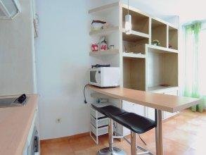Estudio Exterior con A/C, WiFi y Vistas a Sagasta, Glorieta Bilbao SAG1C
