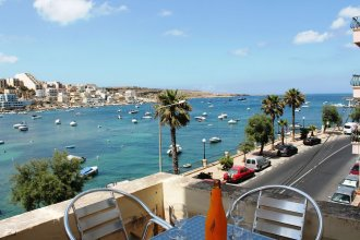 Blue Harbour 1 Seafront Holiday 2-bedroom Apartment With Terrace St Pauls Bay