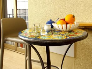 Apartment With one Bedroom in Palermo, With Wonderful City View, Furnished Balcony and Wifi - 7 km From the Beach