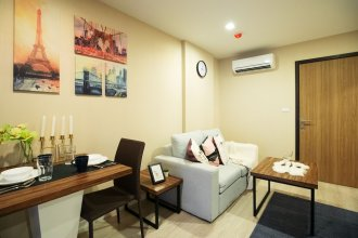 Near BK University Quiet Condo in Rama4 (bkb136)