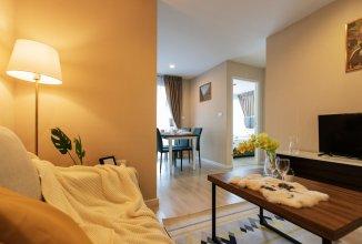 Cozy Apartment in BKK, Best for 3ppl (bkb213)